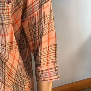 Anthropologie Tops - Anthro Holding Horses Plaid Faux Wrap Flannel Top